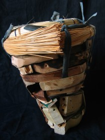 """Liner"" 2012. Furniture parts, wicker 17"" x 13"" x 13"""
