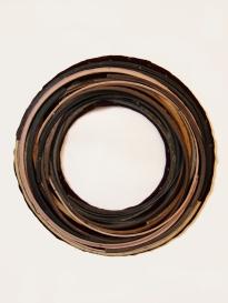 """""""Well"""" 2013. Rubber, wood, velvet. 30""""x30"""""""