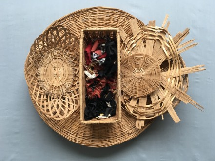 Sewing Kit 2018 Wicker, cloth 18 x 24 x 8 in.